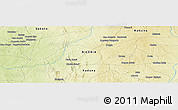 "Physical Panoramic Map of the area around 11° 9' 41"" N, 6° 52' 30"" E"