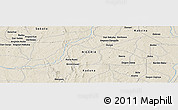 Shaded Relief Panoramic Map of Gajere