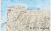 Shaded Relief Map of Santa Marta