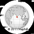 Outline Map of Nilgiri Mountains, rectangular outline