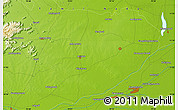 """Physical Map of the area around 11°9'41""""N,79°7'30""""E"""