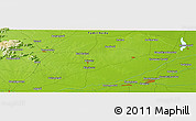 """Physical Panoramic Map of the area around 11°9'41""""N,79°7'30""""E"""