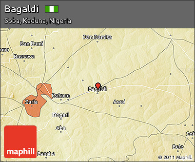 Physical 3D Map of Bagaldi