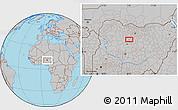 Gray Location Map of Bagaldi