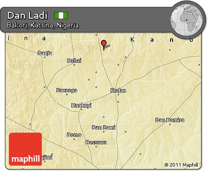 Physical Map of Dan Ladi