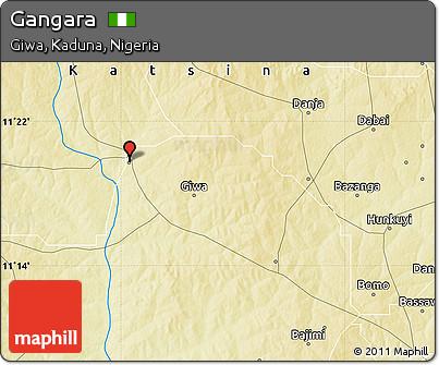 Physical Map of Gangara