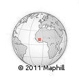 """Outline Map of the Area around 11° 9' 41"""" N, 7° 34' 30"""" W, rectangular outline"""