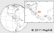 """Blank Location Map of the area around 11°9'41""""N,82°22'30""""W"""