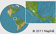"""Satellite Location Map of the area around 11°9'41""""N,82°22'30""""W"""