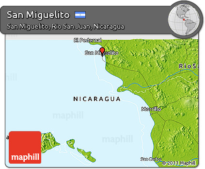 Free Physical 3D Map of San Miguelito
