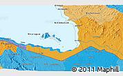 Political 3D Map of San José
