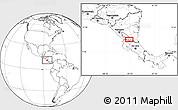 Blank Location Map of San Carlos
