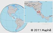 Gray Location Map of San Carlos