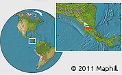 """Satellite Location Map of the area around 11°9'41""""N,84°55'30""""W"""