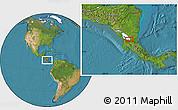 Satellite Location Map of San Carlos