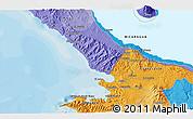 Political 3D Map of San Juan del Sur