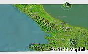 Satellite 3D Map of San Juan del Sur