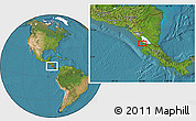 """Satellite Location Map of the area around 11°9'41""""N,85°46'30""""W"""