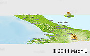 Physical Panoramic Map of Nandaime