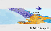 Political Panoramic Map of San Juan del Sur