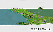 Satellite Panoramic Map of San Juan del Sur