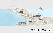 Shaded Relief Panoramic Map of San Juan del Sur