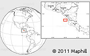 """Blank Location Map of the area around 11°9'41""""N,86°37'30""""W"""