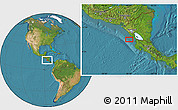 """Satellite Location Map of the area around 11°9'41""""N,86°37'30""""W"""