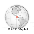 """Outline Map of the Area around 11° 9' 41"""" N, 87° 28' 29"""" W, rectangular outline"""