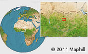 """Satellite Location Map of the area around 11°9'41""""N,8°34'29""""E"""