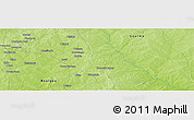 """Physical Panoramic Map of the area around 11°40'49""""N,0°4'30""""E"""