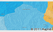 """Political 3D Map of the area around 11°40'49""""N,0°55'29""""E"""