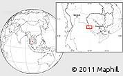 Blank Location Map of Krŏng Kaôh Kŏng