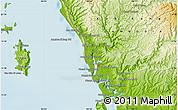 Physical Map of Krŏng Kaôh Kŏng