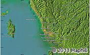 Satellite Map of Krŏng Kaôh Kŏng