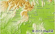 Physical Map of Phumĭ Âmpĭl