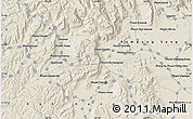 """Shaded Relief Map of the area around 11°40'49""""N,103°46'30""""E"""