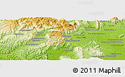 Physical Panoramic Map of Phumĭ Âmpĭl