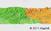 Political Panoramic Map of Knŏng Ay