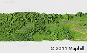 Satellite Panoramic Map of Knŏng Ay