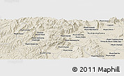 Shaded Relief Panoramic Map of Knŏng Ay