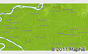 """Physical 3D Map of the area around 11°40'49""""N,105°28'29""""E"""