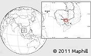 Blank Location Map of Prey Vêng