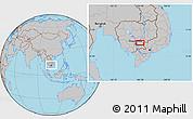 Gray Location Map of Prey Vêng