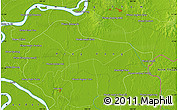 """Physical Map of the area around 11°40'49""""N,105°28'29""""E"""