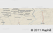 Shaded Relief Panoramic Map of Phumĭ Dâmnăk Slêng