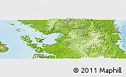 """Physical Panoramic Map of the area around 11°40'49""""N,125°1'30""""E"""