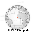 Outline Map of Gaoual, rectangular outline