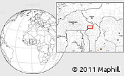 """Blank Location Map of the area around 11°40'49""""N,1°46'29""""E"""