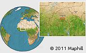 Satellite Location Map of Darbonoré